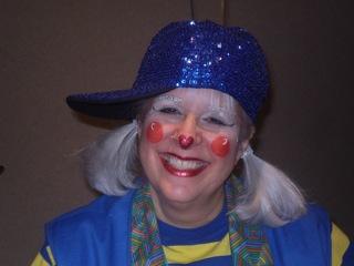 glitter in blue hat